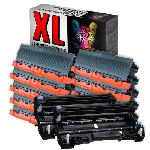 10 + 2 Brother TN-750 Black Toner + DR-720 Drum Compatible Cartridge Combo (High Yield Of TN-720)