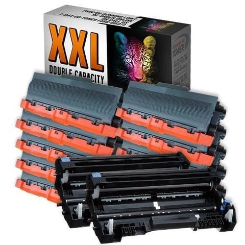 10 + 2 Brother TN-780 Double Capacity Black Toner + DR-720 Drum Compatible Cartridge Combo (High Yield Of TN-750/TN-720)