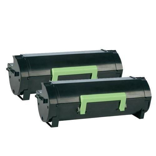 2 Lexmark 50F1H00 Compatible High Yield Black Toner Cartridge (MS310/MS410/MS510/MS610) - Page Yield 5K