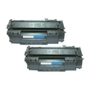 2 Toner Cartridge Compatible with HP Q7553A Black Combo (HP 53A)