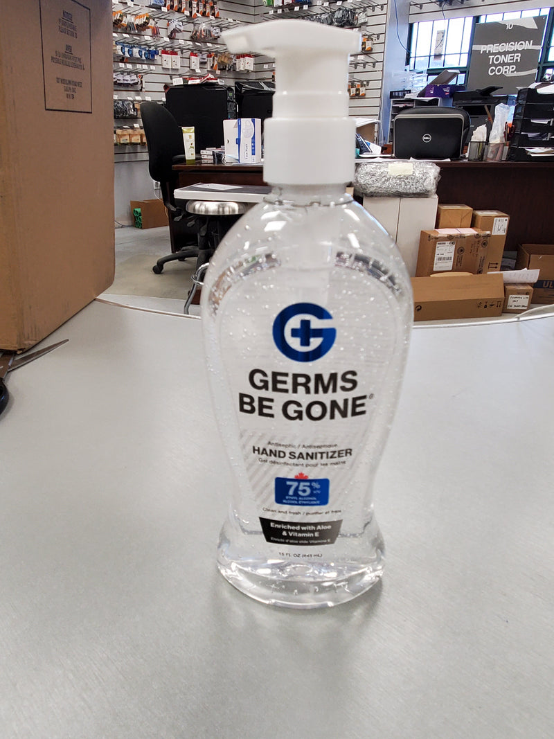 Absolute Toner Copy of From $14.99 LARGE (33.8 OZ) 1 Liter Germs Be Gone® 75% Alcohol, Aloe and Vitamin E Health CANADA Approved - GEL Hands Sanitizer Sanitizer