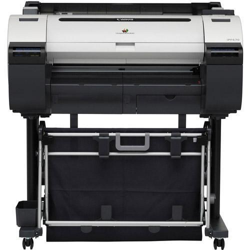 "Brand new 24"" Canon imagePROGRAF iPF670 Graphic Color Large Format Printer with Stand"