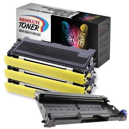 Absolute Toner Compatible 3 + 1  Brother TN-350 Black Toner + DR-350 Drum Unit Cartridge Combo Brother Toner Cartridges