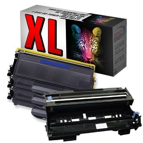 3 + 1 Brother TN-360 High Yield Black Toner + DR-360 Drum Unit Compatible Cartridge Combo (High Yield Of TN-330)