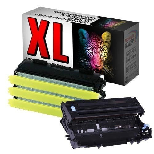3 + 1 Brother TN-460 High Yield Black Toner + DR-400 Drum Unit Compatible Cartridge Combo (High Yield Of TN-430)
