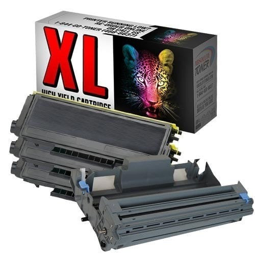3 + 1 Brother TN-580 Black Toner + DR-520 Drum Unit Compatible Cartridge Combo (High Yield Of TN-550)