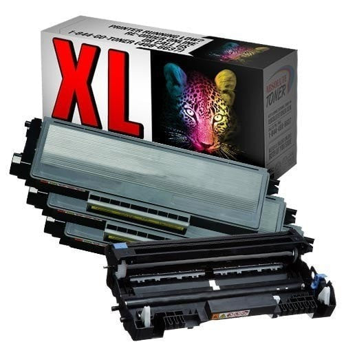 3 + 1 Brother TN-650 Compatible Black Toner Cartridges + DR-620 Drum Cartridge Combo (High Yield Of TN-620)