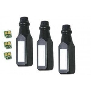 3 Bottles + 3 Chips HP Q7551A Compatible Black Toner Refill Kit (HP 51A)