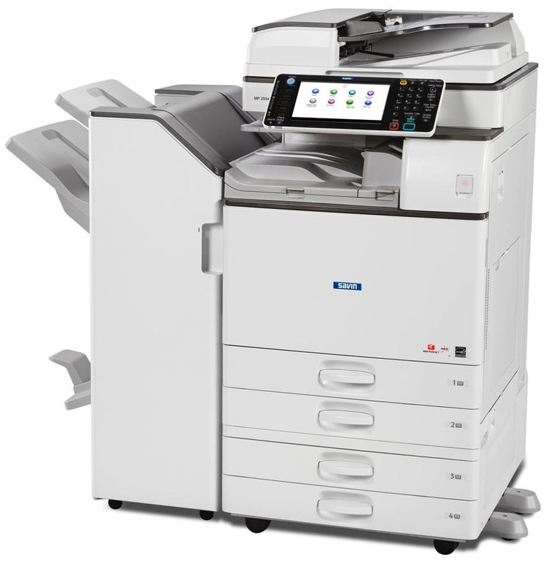 Absolute Toner $69/Month Ricoh MP 5054 50PPP Multifunction Office Printer Black and White Laser Copier Scanner, One-Pass Duplex, 300gsm Showroom Monochrome Copiers