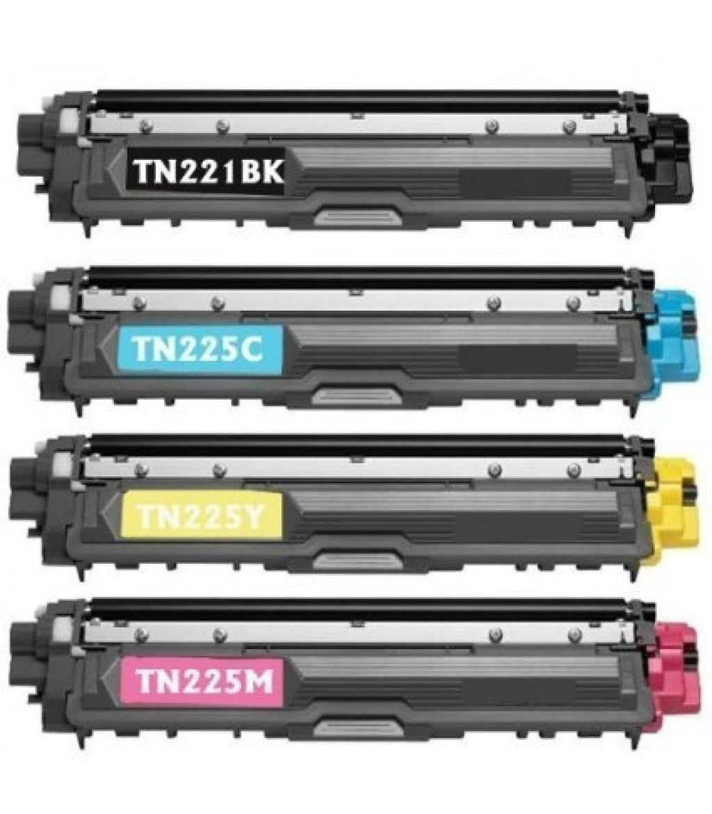 4 + 4 Brother TN-225 + DR-221 Compatible High Yield Toner & Drum Unit Cartridge Combo