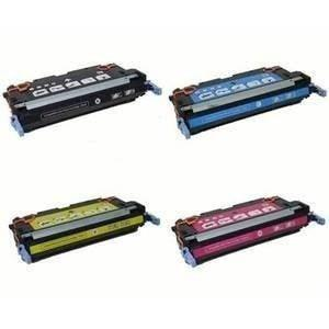 4 Toner Cartridge Compatible HP 641A Combo (HP C9720A Black, C9721A Cyan, C9723A Magenta, C9722A Yellow)