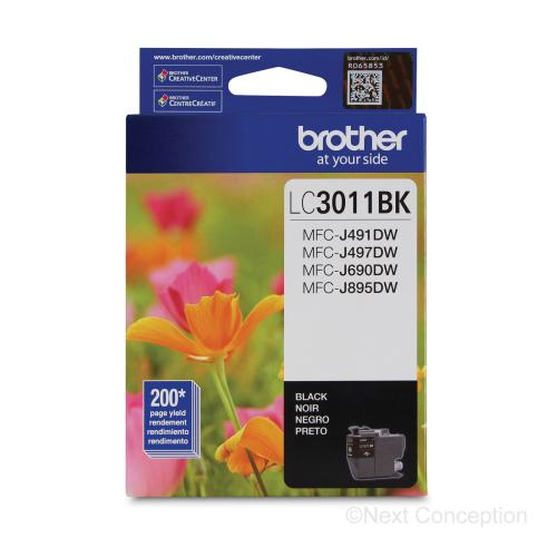 Absolute Toner LC3011BKS BLACK INK FOR MFCJ491DW, MFC690DW 0.2K Brother Ink Cartridges