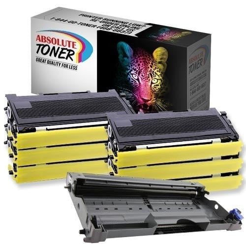 Absolute Toner Compatible 6 + 1  Brother TN-350 Black Toner + DR-350 Drum Unit Cartridge Combo Brother Toner Cartridges