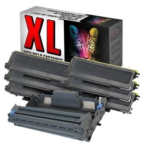 Absolute Toner Compatible 6 + 1  Brother TN-580 Black Toner + DR-520 Drum Cartridge Combo (High Yield Of TN-550) Brother Toner Cartridges