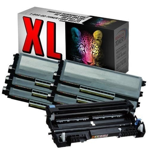 6 + 1 Brother TN-650 Compatible Black Toner Cartridges + DR-620 Drum Cartridge Combo (High Yield Of TN-620)