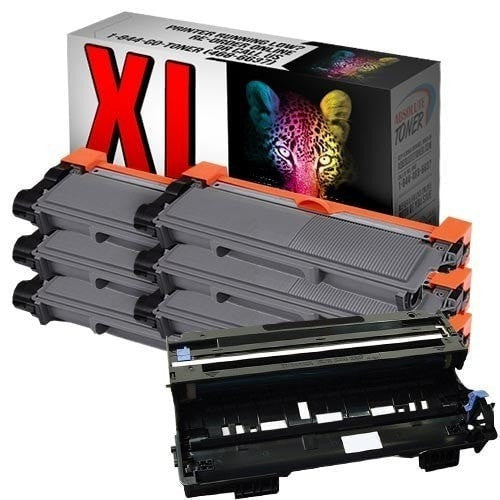 Absolute Toner Compatible 6 + 1 Brother TN-660 High Yield Black Toner + DR-630 Drum Unit Cartridge Combo (High Yield Of TN-630) Brother Toner Cartridges