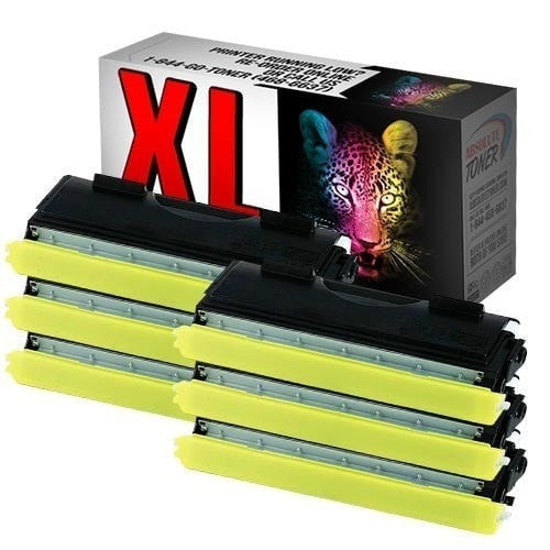 6 Brother TN-460 Compatible High Yield Black Toner Cartridge (High Yield Of TN-430)