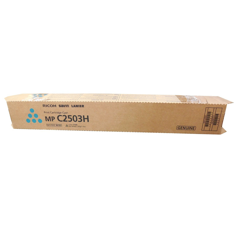 Absolute Toner Genuine Ricoh 841921 MP C2503H Original Cyan Toner Cartridge (MP C2003 C2004 C2503 C2504) Original Ricoh Cartridges