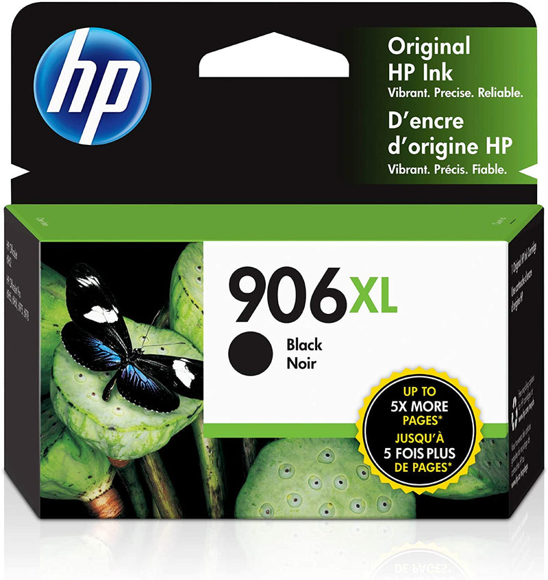 Absolute Toner HP Genuine OEM 906XL (T6M18AN) High Yield Black Original Ink Cartridge, Use for P OfficeJet Pro 6968, 6960, 6975, 6978. Original HP Cartridges