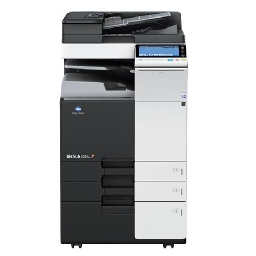 Absolute Toner Konica Minolta BizHub C224e Multifunction Color Laser Printer, Copier, Scanner 11x17, 2 Paper Cassettes, LCD Showroom Color Copiers