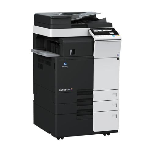 "$ 69/Month Repossessed New with low Page Count Konica Minolta BizHub C554e Color Multifunction Copier - 55ppm, Tabloid, Copy, Print, Scan, DADF, Duplex, 12"" x 18"", 11"" x 17"""