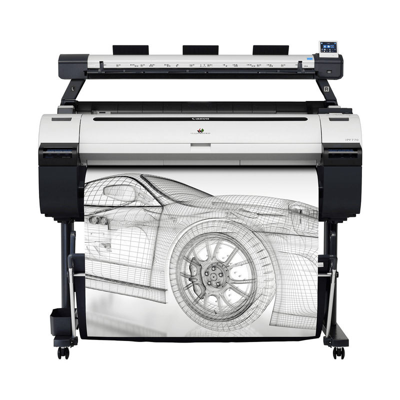 "Absolute Toner $117/month - NEW 36"" Canon ImagePROGRAF iPF770 Graphic Color Large Format Printer with Scanner Large Format Printer"