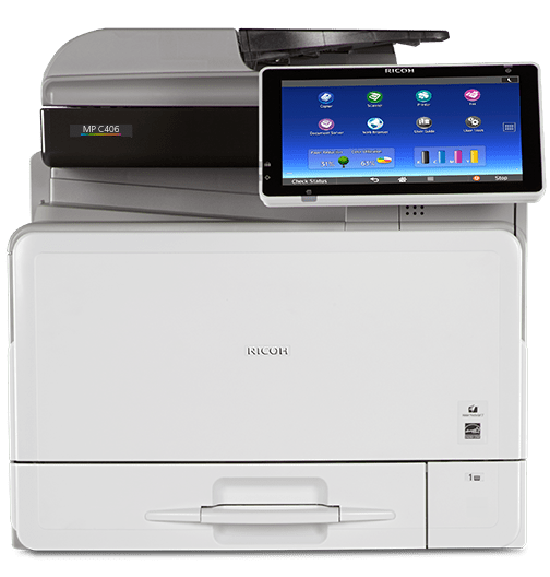 Absolute Toner $45/Month Ricoh MP C406 Color Laser Multifunction Printer Showroom Color Copiers