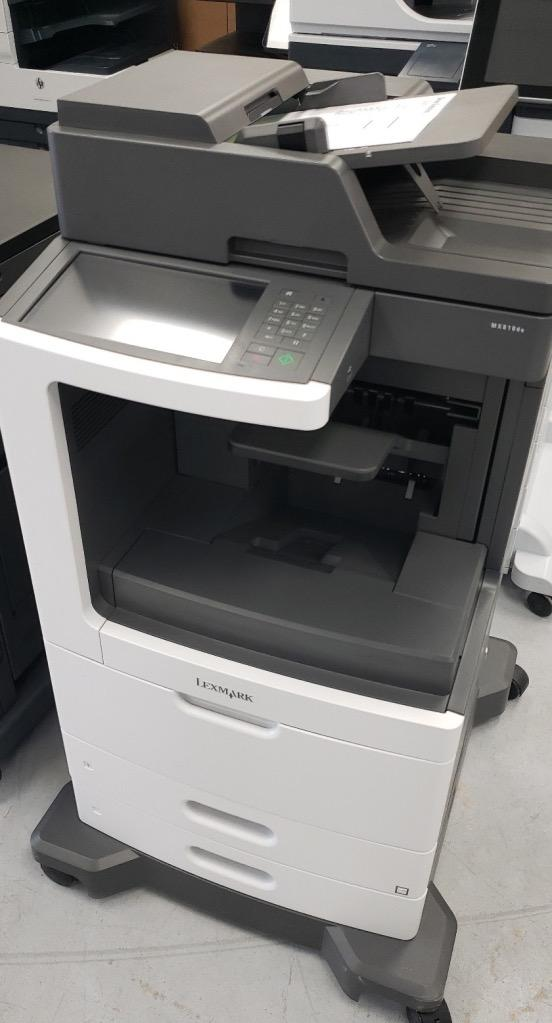 Absolute Toner $24.63/month - REPO Lexmark MX-810de MX810de MX810 Monochrome Laser Multifunction Printer Repossessed - Lease to Own a Powerful Office Printer Showroom Monochrome Copiers
