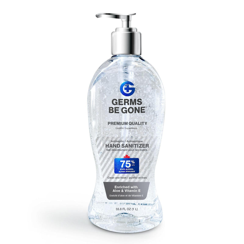 Absolute Toner Copy of From $28.32 X-LARGE (64 OZ) 1.9 Liter Germs Be Gone® 75% Alcohol, Aloe and Vitamin E Health CANADA Approved - GEL Hands Sanitizer Sanitizer