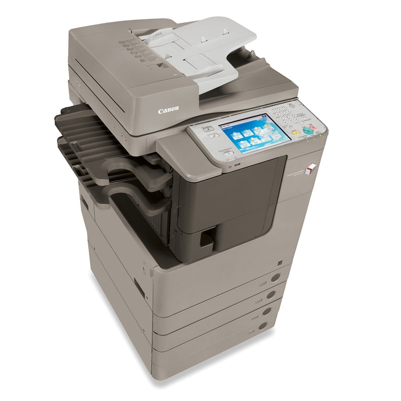 Absolute Toner Canon imageRUNNER ADVANCE 4045 (IRA4045) Monochrome Multifunction Laser Printer, Copier, Scanner, 11x17, 4 Trays Builtin Finisher/Stapler For Office | Production Printer Showroom Monochrome Copiers