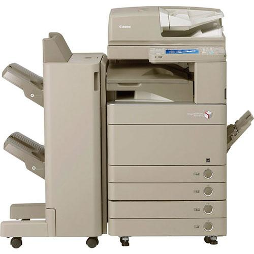 Pre-owned Canon imageRUNNER ADVANCE C5250 5250 Color Copier Scan 120IPM Print 50PPM Single Pass Duplex Scanner Finisher Stapler