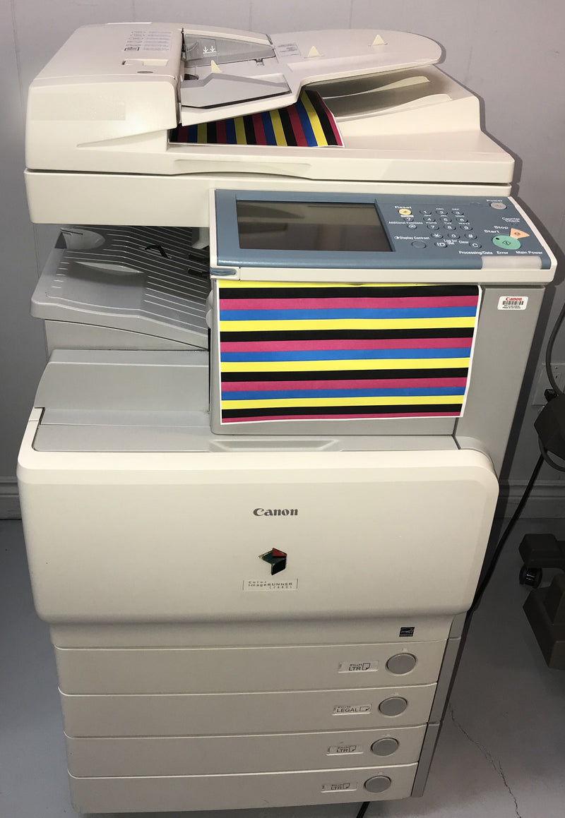 Pre-owned Canon ImageRUNNER IR C2880i C2880 Colour Multifunction Copier Printer Scanner Fax Stapler