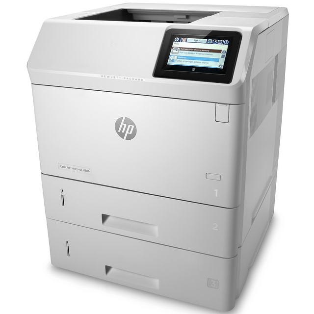 Absolute Toner HP LaserJet Enterprise M606DTN High-Speed Black & White Multifunctional Laser Printer, Scanner for Office | $17/month with extra toner Showroom Monochrome Copiers