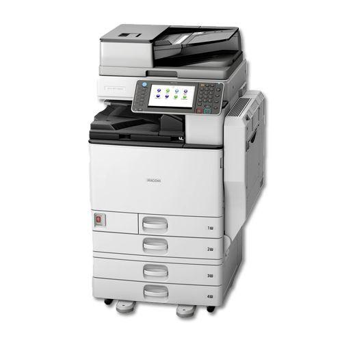 Absolute Toner Only 10k Pages - Ricoh MP 5002 Monochrome Printer Color Scanner Fax 11x17 Stapler REPOSSESSED Office Copiers In Warehouse