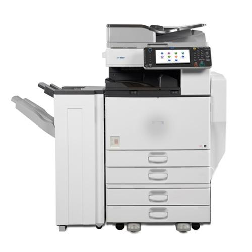 Pre-owned Ricoh MP C5502 Color Laser Multifunction Printer Copier Scanner Finisher 11x17