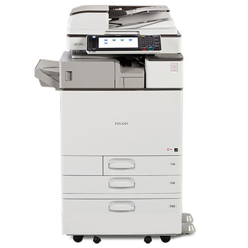 Absolute Toner $67/Month Ricoh MP C3003 Color Copier Scanner Laser Printer Stapler 11x17 12x18 - Only 35k Pages Printed Showroom Color Copiers