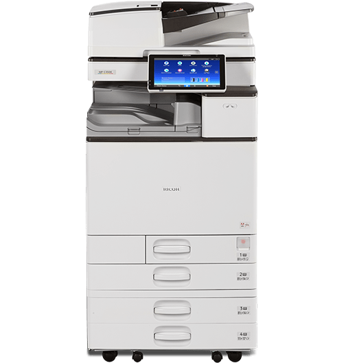 Absolute Toner $66.88/month High Speed Ricoh Aficio MP C3004 Color Multifunction Office Printer Copier Scanner 11x17, 12x18, 300gsm Showroom Color Copiers