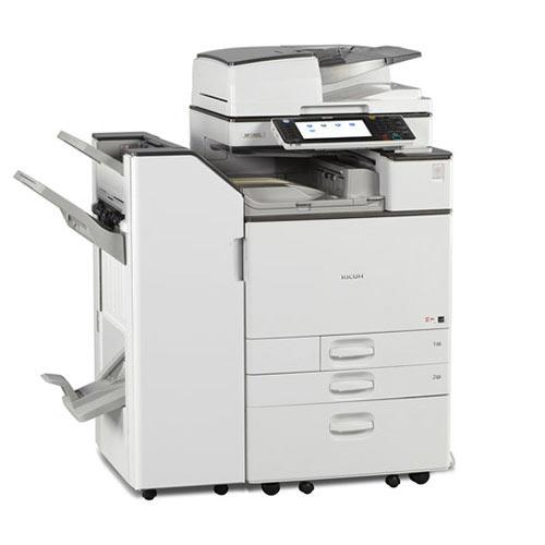 Absolute Toner Ricoh MP C3503 Color Copier Scanner Laser Printer 35PPM 11x17 12x18 with Booklet Maker Finisher Office Copiers In Warehouse