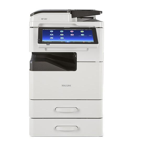 Absolute Toner Ricoh MP 305+SPF Black & White Multifunction Laser Printer Copier, Scanner, 2 trays, Desktop For Office - $18.50/Month Showroom Monochrome Copiers