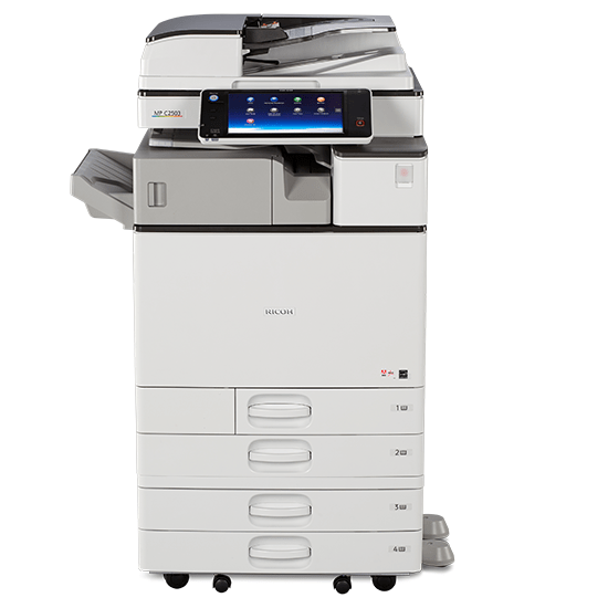 Absolute Toner Ricoh MP C3003 Color Laser Multifunction Printer Copier Scanner (11X17, 12x18) For Office - $39.99/Month Showroom Color Copiers
