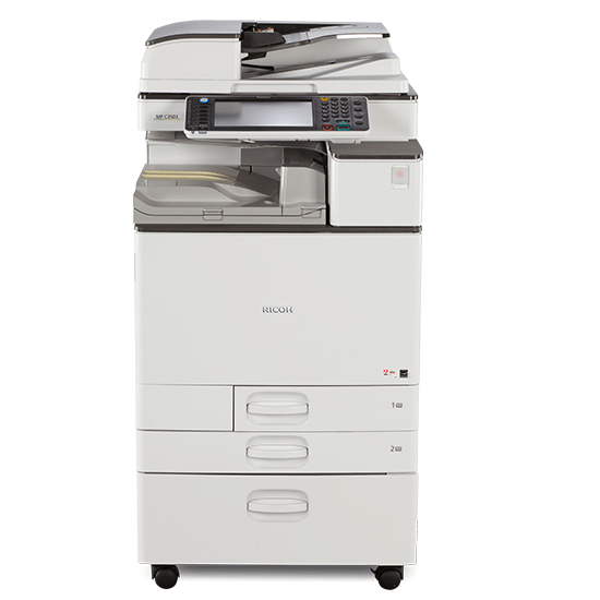 Absolute Toner Ricoh MP C3503 Color Laser Multifunction Printer Copier Scanner 11X17, 12x18 For Office - $59/Month Showroom Color Copiers