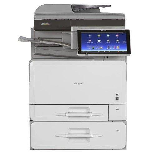 Absolute Toner Ricoh MP C407 40 ppm (METER ONLY 3.5K PAGES) Color Laser Multifunction Copier Printer Scanner with Touchscreen - $45/Month Showroom Color Copiers