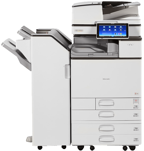 Absolute Toner $63.88/Month Ricoh MP C3504 Color Office Printer, Copier Multifunction Printer Scanner, One Pass Duplex, 300gsm Showroom Color Copiers