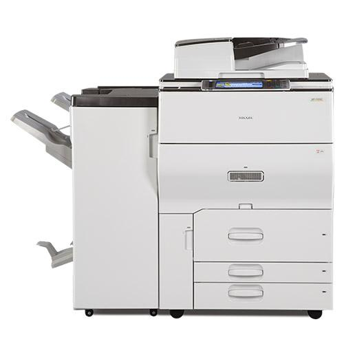 Ricoh MP C6502 Color Laser High Speed 65 PPM Copier 12x18 with Booklet Maker Finisher - REPOSSESSED