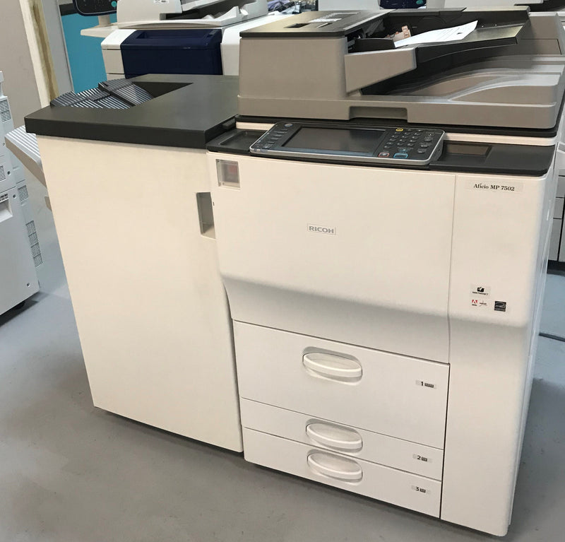 $97/month NEW Repossessed only 1k Pages Printed Ricoh MP 7502 Monochrome ALL INCLUSIVE PREMIUM Copier - Only 1k pages