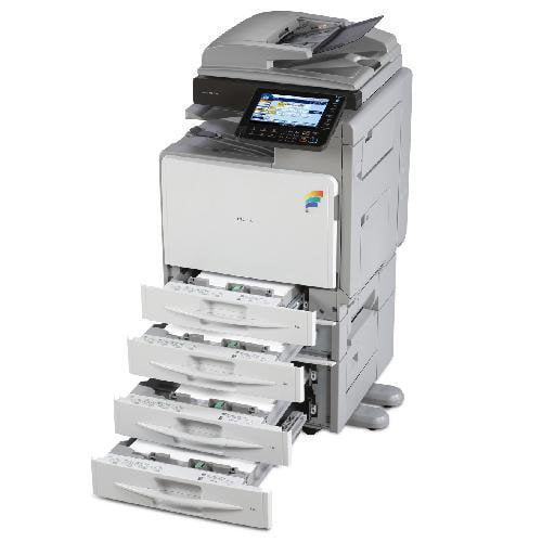 Absolute Toner Ricoh MP C300SR C300 Colour Copier Printer Scanner with Stapler - REPOSSESSED Office Copiers In Warehouse