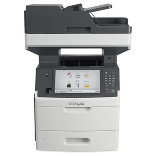 Absolute Toner Lexmark MX711de Monochrome Multifunction Desktop High-Speed Laser Printer, 1 Tray + Bypass, Duplex For Office  $24.95/Month Showroom Monochrome Copiers