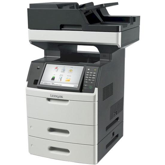 Absolute Toner Lexmark MX711de Monochrome Full Size High-Speed Multifunction Laser Printer, Large Capacity Tray + 2 Tray + Bypass, Duplex For Office - $27.95/Month Showroom Monochrome Copiers