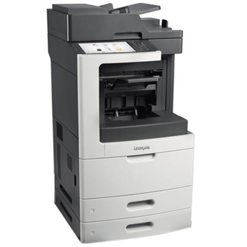 Absolute Toner Lexmark MX810de Black & White Full Size High-Speed Multifunction Laser Printer, 2 Tray + Bypass, Duplex For Office  $45/Month Showroom Monochrome Copiers