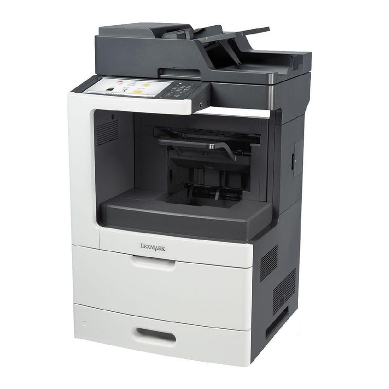 Absolute Toner Lexmark MX811dxme Monochrome Full Size High-Speed Multifunction Laser Printer,Large LCT + 1 Trays + Bypass - $49.95/Month Showroom Monochrome Copiers